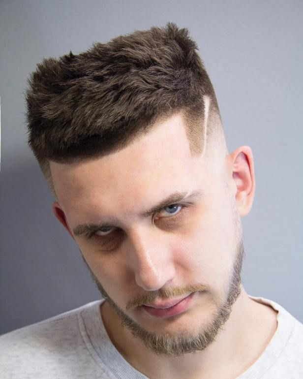 Messy Buzz Cut And Shaved Line Trending Men Hairstyles For 2018