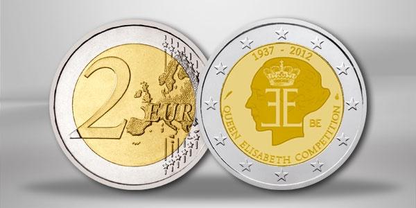 Belgien 2 Euro Sondermünze Musik Wettbewerb 2012