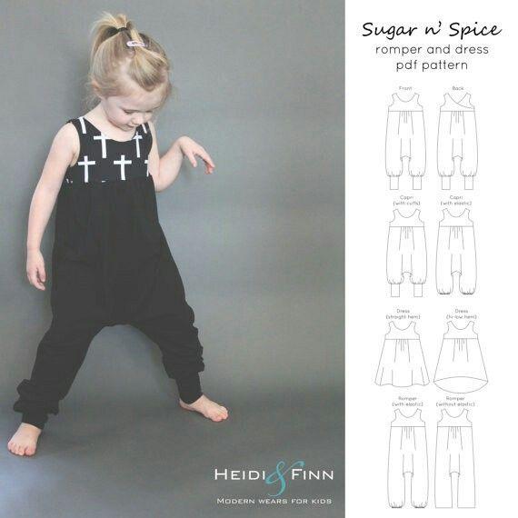 Sugar n Spice dress and romper 12m-5a et 6a 12a - Heidi finn