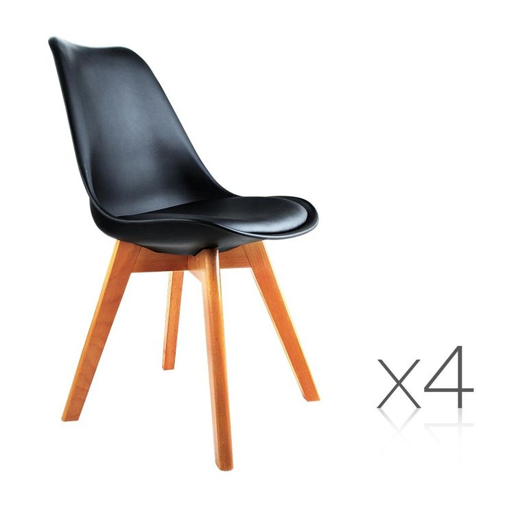 4 x Retro Replica Eames Eiffel DSW Dining Chairs