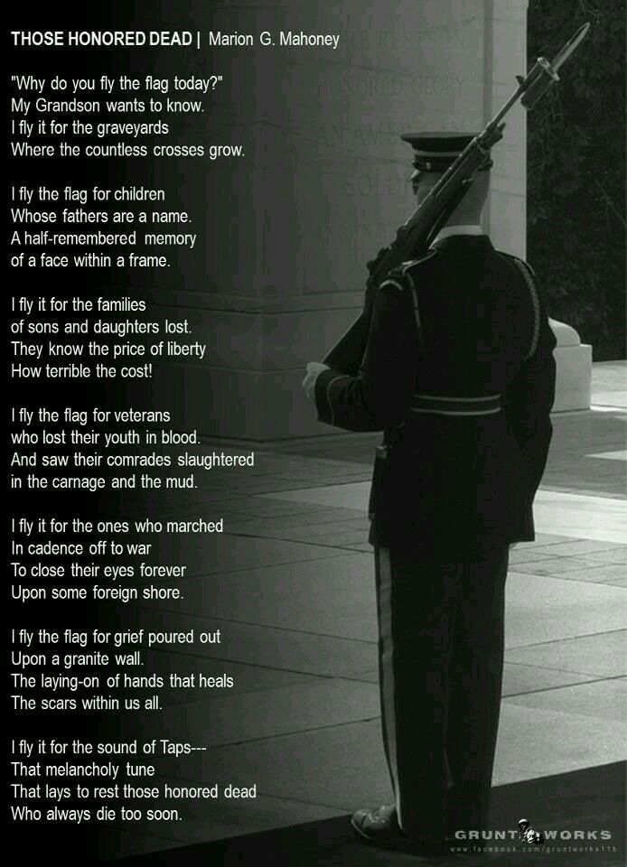 memorial day poem ideas