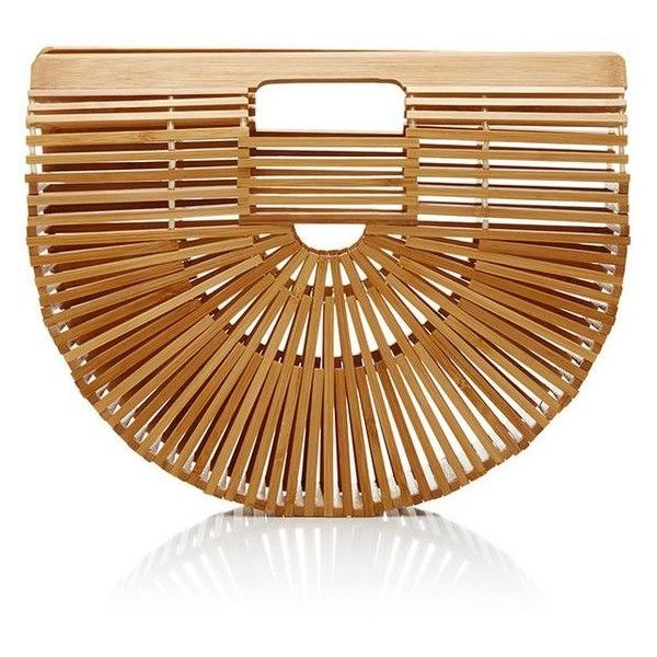 Cult Gaia Small Bamboo Ark Bag ❤ liked on Polyvore featuring bags, handbags, brown bag, brown handbags, hand bags, handbag purse and brown purse