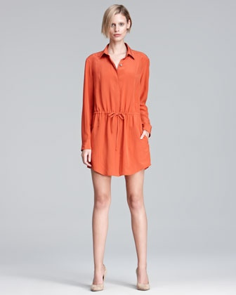 Drawstring Shirtdress by Thakoon Addition. I need this! So easy to dress up or down.