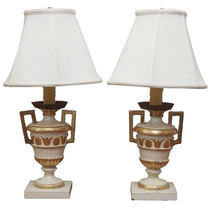 Pair Of Neoclassical Style Urns Mounted As Lamps Urn