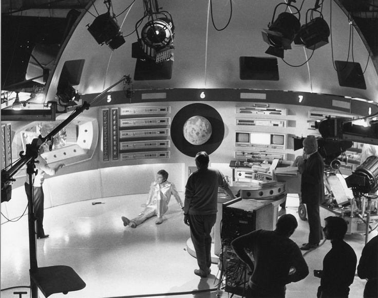 Filming in the Moonbase Command Sphere (from Gerry Anderson's UFO)