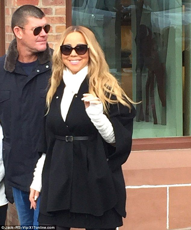 Just the two of us: Mariah Carey smiled as she was spotted enjoying a walk in Aspen on Sat...