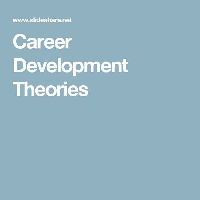 career development theories for women Empowering women: four theories tested on socioeconomic development come with the economic aspects of modernity but also behavioral choices and career.