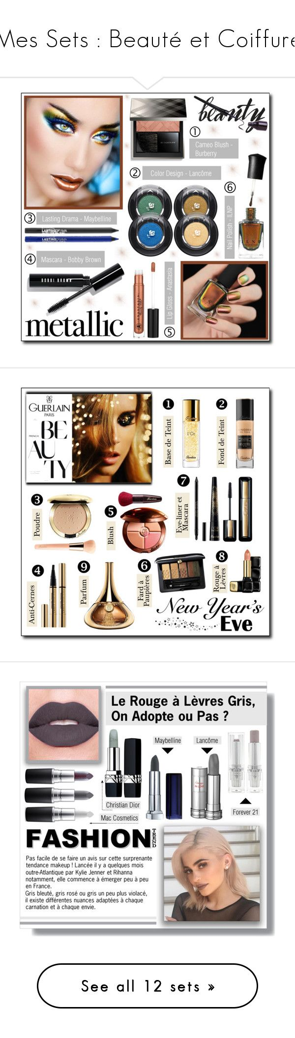 """Mes Sets : Beauté et Coiffure"" by drinouchou ❤ liked on Polyvore featuring beauty, Deborah Lippmann, Lancôme, Maybelline, Bobbi Brown Cosmetics, Anastasia Beverly Hills, Burberry, metallicmakeup, Guerlain and nyebeauty"