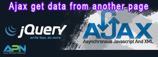 Jquery Ajax Example Get Data From Another Page