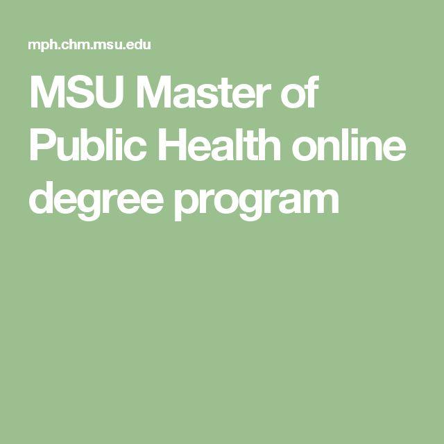 MSU Master of Public Health online degree program