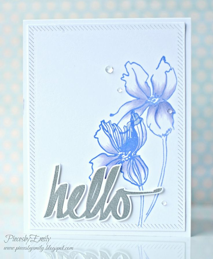 PiecesbyEmily, clear stamps, handmade card, papercrafting, #Altenew, hello card