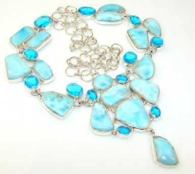 Blue Night Larimar Sterling Silver necklace
