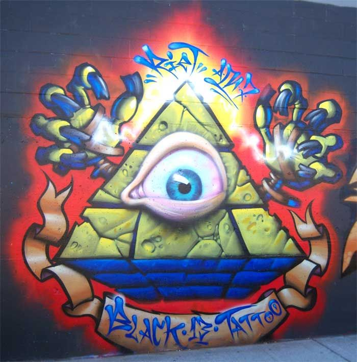 I work at black 13 tattoo street art 1 pinterest for American graffiti tattoo