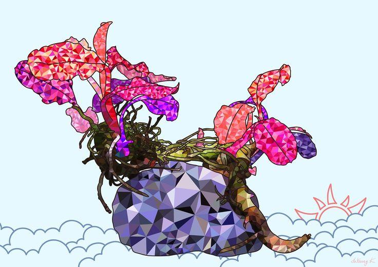 "by. JuYoung.K [Bucephalandra #Pink #Martini(부세파란드라 핑크마티니) : No.2],  2014, #DigitalImage,  ""A+""  #Bucephalandra #PinkMartini #StillLife #Art #artwork"