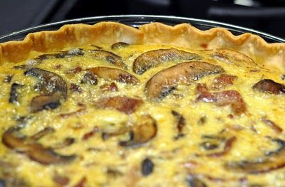 Weekend Food: Bacon & Mushroom Quiche - Beyer Beware