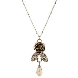 MID LENGTH ROSE NECKLACE - glass, metal, alloy, lead, nickel, cadmium, free, ... - Four Corners | Online Boutique Fashion Jewellery