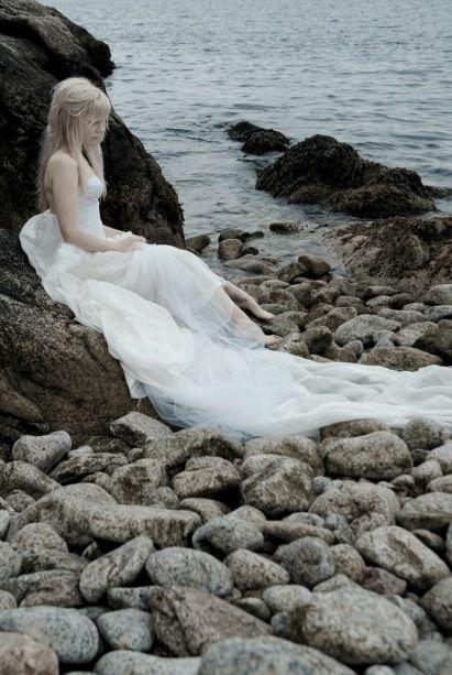 Washed ashore mermaid. Banished from the kingdom