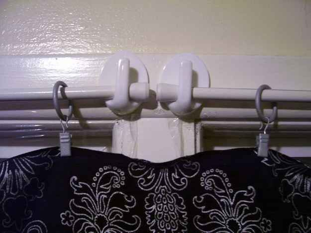 Command hooks are a super easy way to hang curtains in an RV.