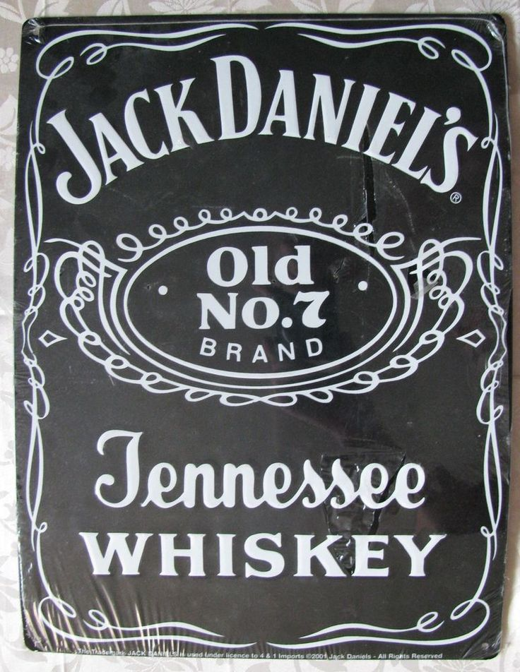 Jack Daniels Metal Enamel Advertising Sign Vintage Design #JackDaniels