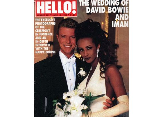 Iman And David Bowie. Iman Wore A Wedding Dress By Herve