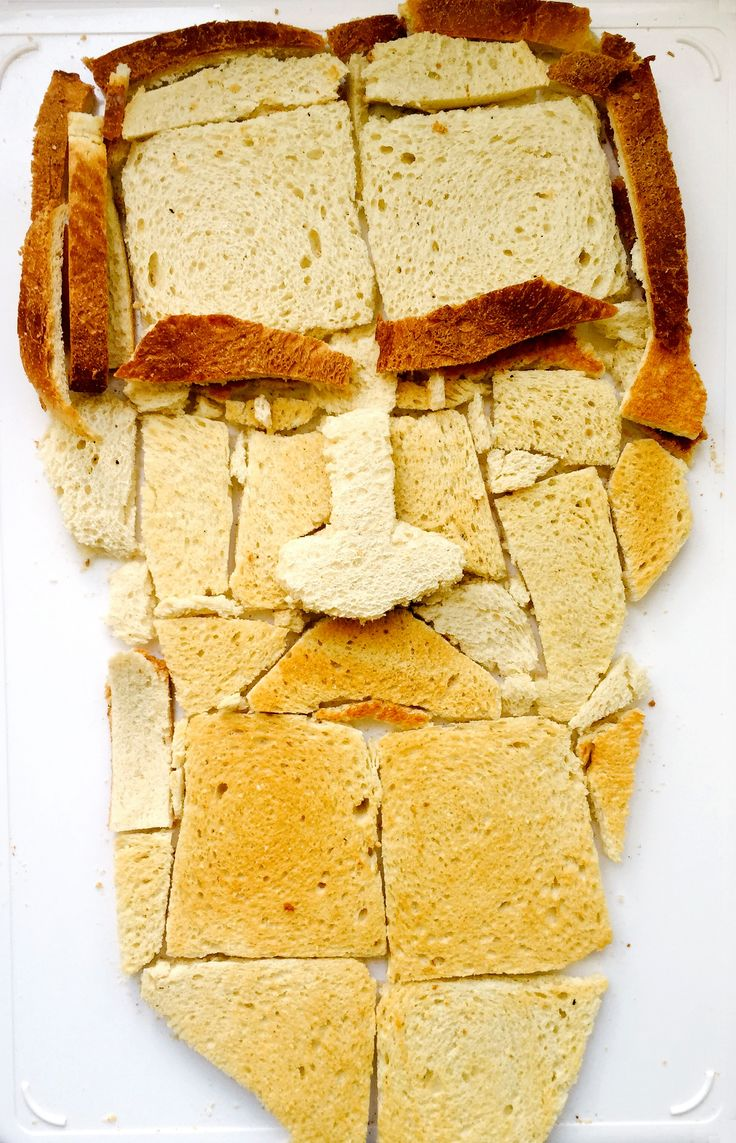 From a series of author portraits made with food, by Christian Kjelstrup. The materials used to compose the portrait a pun on the author's name: Leo Toastoy.
