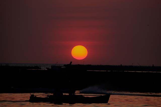 Sunset at Losari Beach, Makassar. #VisitIndonesia #Traveling