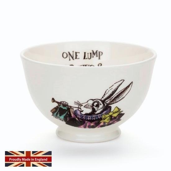 - イギリス雑貨と紅茶とハーブティーのお店 English Specialities ミセスムーア 不思議の国のアリス 白ウサギ シュガーボウル