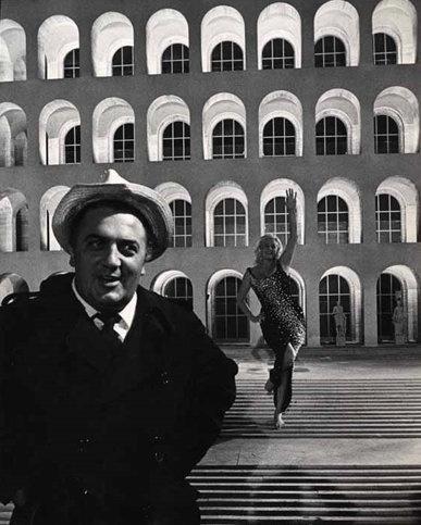 Federico Fellini and Anita Ekberg, Rome, 1960.