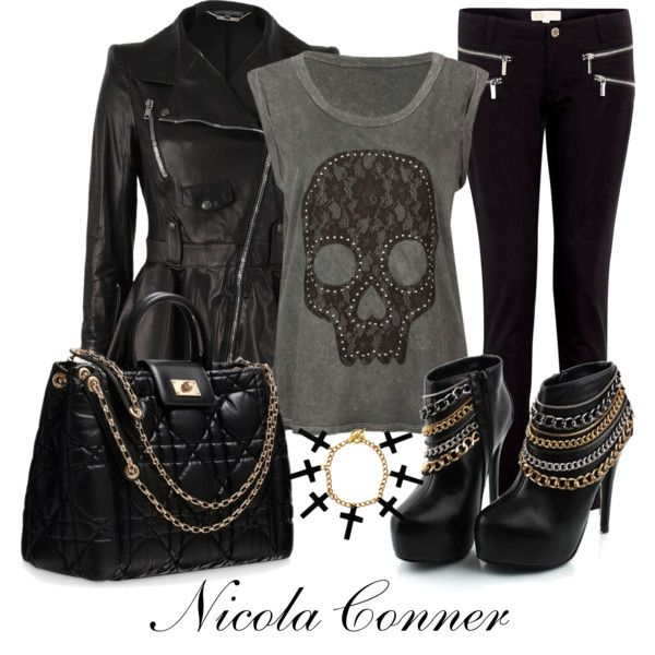 """""""Edgy Rock Look"""" by nicola-conner on Polyvore"""