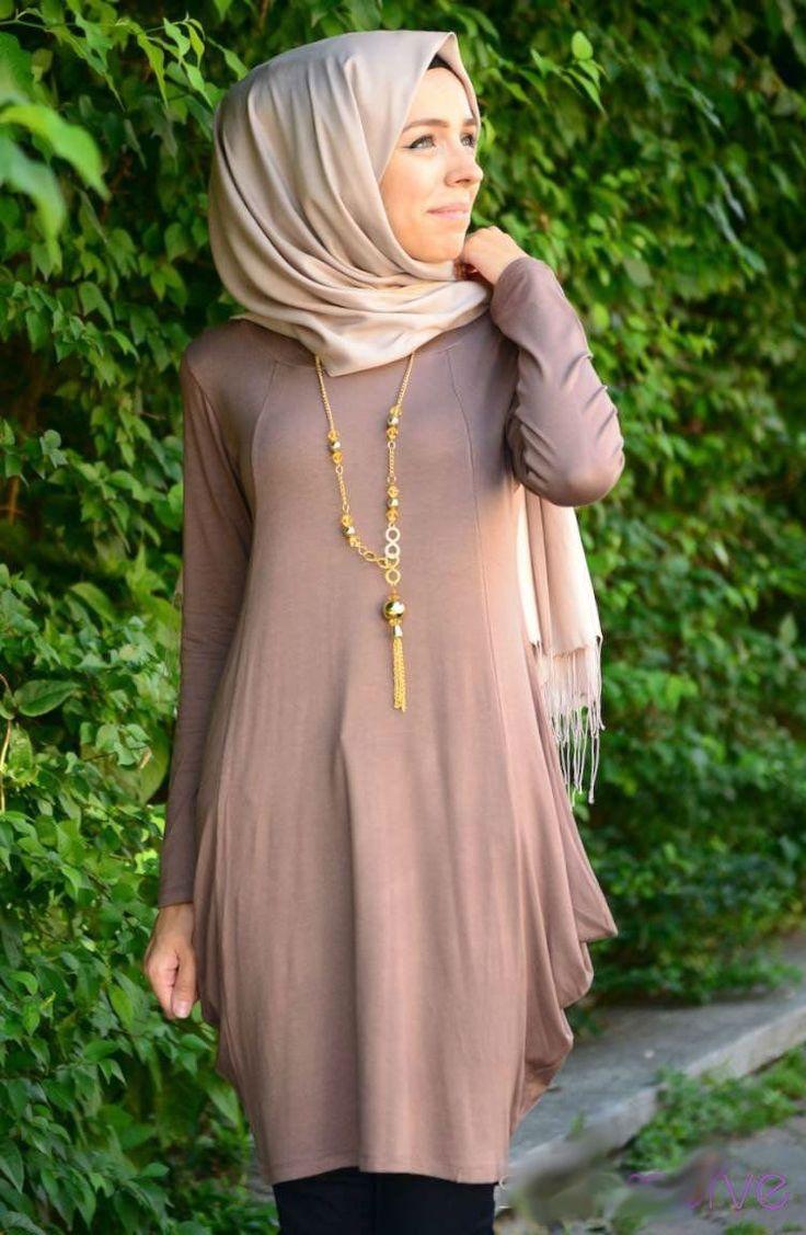 #Hijab #hijabfashion2014 #hijabstyle #hijabtop Summerly Tunic - Mink