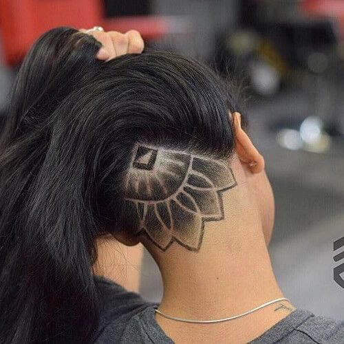 Triangle and Lotus Undercut Hairstyle