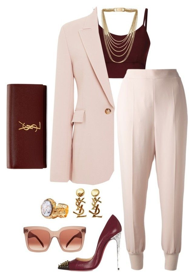 """Dressed  For Success"" by fashionkill21 ❤ liked on Polyvore featuring Wes Gordon, STELLA McCARTNEY, Yves Saint Laurent, Christian Louboutin, CÉLINE and Michael Kors"