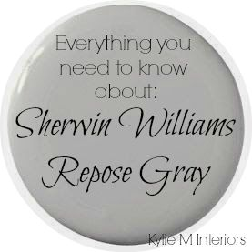 Learn all about Sherwin Williams Repose Gray in this paint color review. Undertones, best rooms to paint it in and more are discussed in a fun and easy to learn way