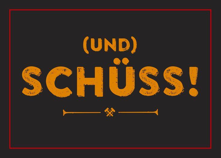 Und Schüss! Outdoof Aufkleber Auto Sticker Ruhrgebiet Ruhrpott