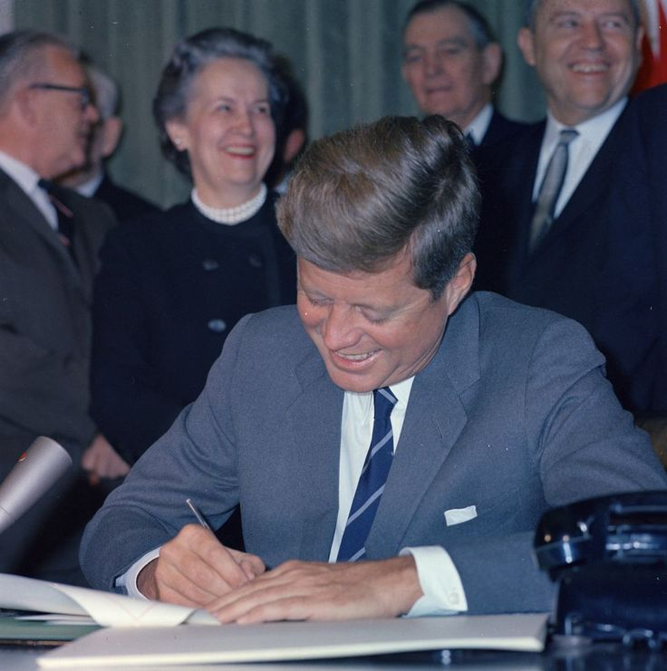 President John F. Kennedy Signs the Mental Retardation Facilities and Community Mental Health Center Construction Act, October 31, 1963