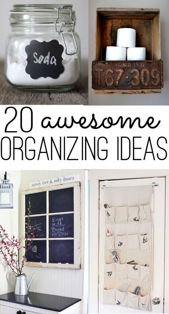 Organizing ideas for every room of the house - some great ways to quickly get every space in order! Quick and easy to complex DIY ideas included.