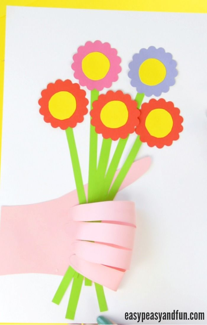 Handprint Flower Craft for Kids