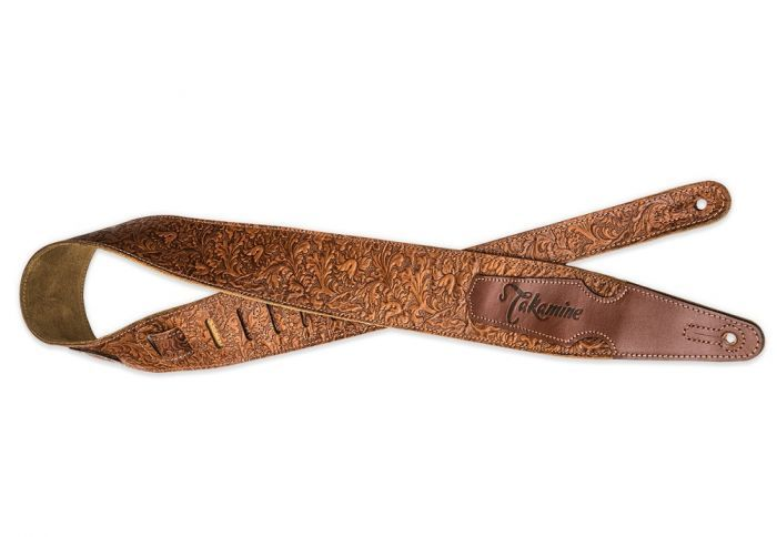 Takamine Tooled Leather Guitar Strap Leather Guitar Straps Guitar Strap Leather Tooling