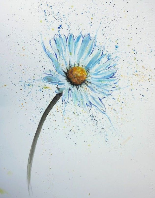 Watercolor Idea With Images Watercolor Daisy Tattoo Daisy