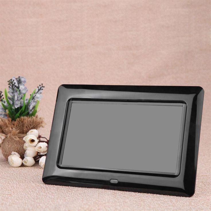 Ультратонкий 7 HD TFT LCD Цифровая Фоторамка с Слайд-Шоу Будильник MP3 MP4 Movie Player с Пультом Ду