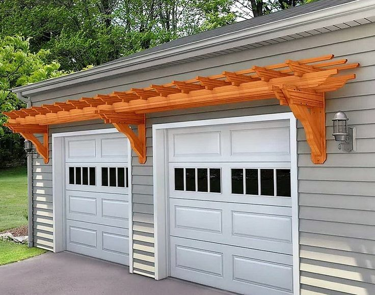 The 25 best wooden pergola ideas on pinterest pergula for Wooden garage plans