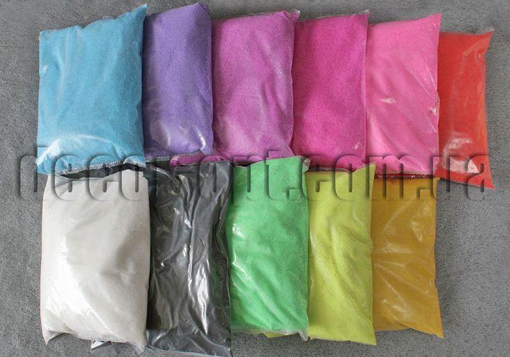Тейп-лента, песок, камешки, волос Ангела, сургуч и др. : Наполнитель - цветной песок 1 кг