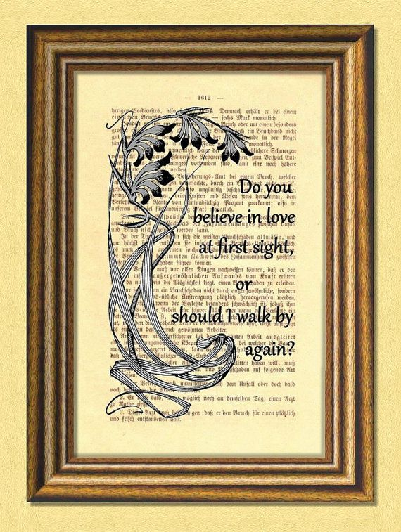 LOVE at FIRST SIGHT  Dictionary art  Wall by littlevintagechest, $7.99