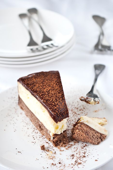 Chocolate orange cheesecake.