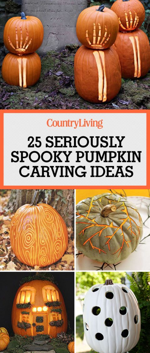 Save these spooky pumpkin carving ideas for Halloween decorating inspiration this fall.