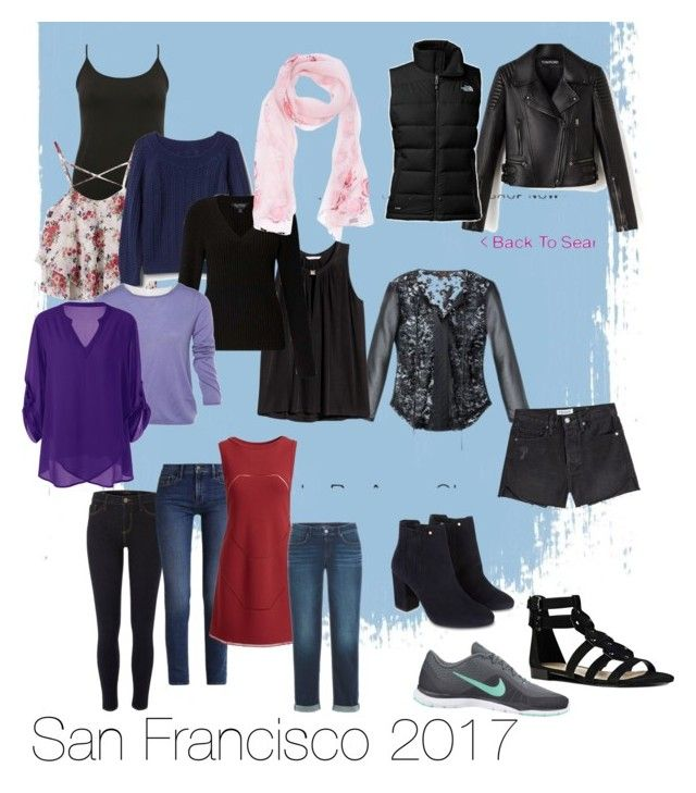 """""""San Francisco weekend packing light"""" by mandy-curtis on Polyvore featuring River Island, Calvin Klein, NIKE, The North Face, M&Co, Gap, Monsoon, Alaïa, H&M and Miss Selfridge"""