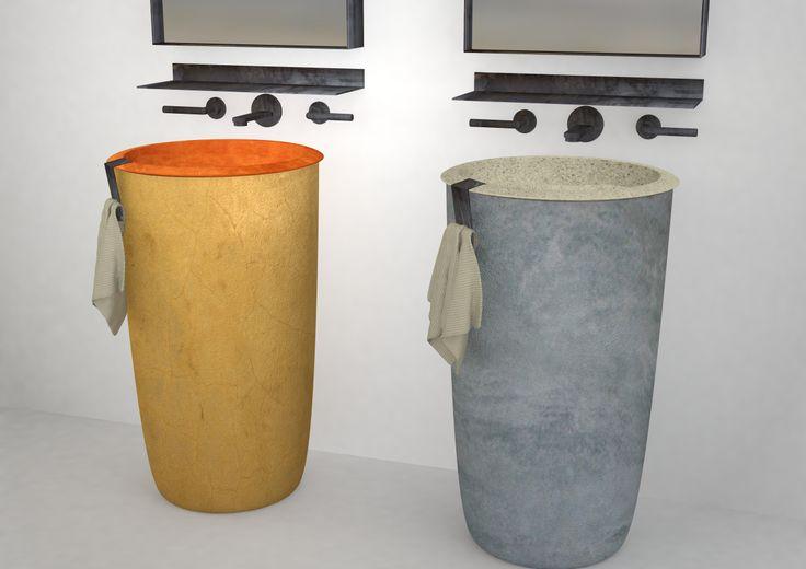 Collezione I Catini, lavabi freestanding design Vincenzo Catoio, anticipazioni Salone del Bagno 2014