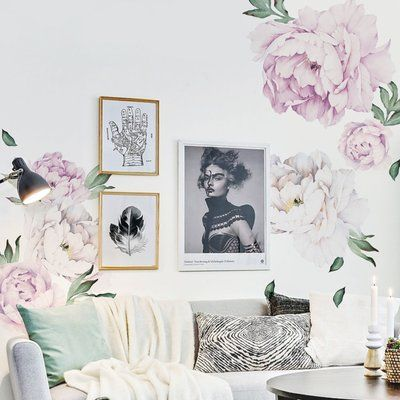 Top  Best Flower Wall Stickers Ideas On Pinterest Flower Wall - Vintage wall decals