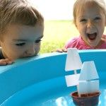 Mayflower Craft and Science Activity  Or just use a  plastic boat and pretend it is the Mayflower