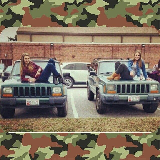 @Emilee Bubb girls with matching Cherokees!  ______________________________ Want to be featured?  KIK: cherokees_4_life Tag: #cherokees4life ______________________________  #cherokees4life #jeep #cherokee #xj #zj #wj #mud #mudding #snow #liftkit #roofrack #flex #flexing #grandcherokee #bigtires #bigbumper #comanche #jeepcherokee #jeepcomanche #Padgram